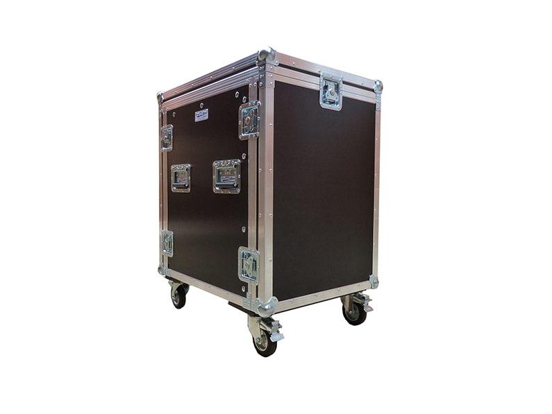 Rack Case 15U, tri poklopca s kotačima